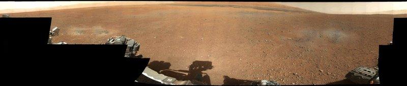 Pierwsza panorama wykonana przez MSL / Credits - NASA, JPL-Caltech