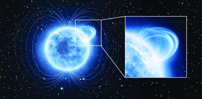 Wizja artystyczna magnetara SGR 0418 / Credits: ESA/ATG Medialab