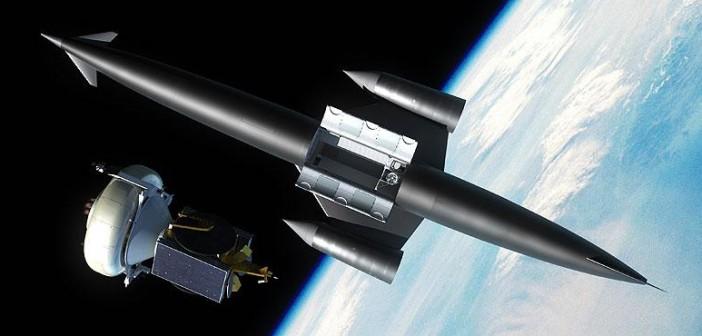 Grafika rakietoplanu Skylon na orbicie podczas uwalniania ładunku / Credits: Reaction Engines