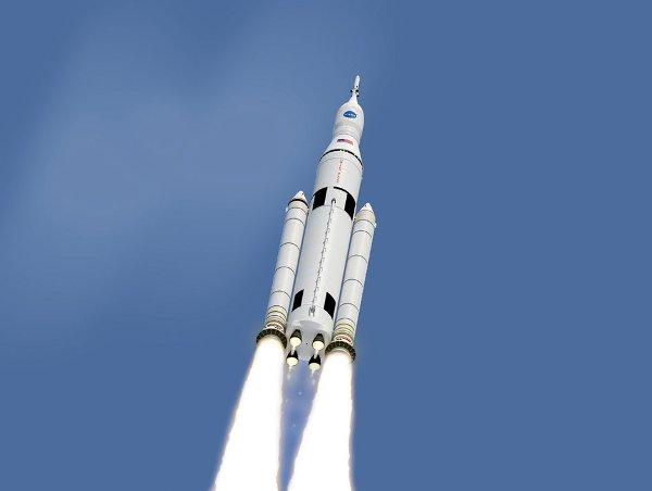 Rakieta SLS i kapsuła MPCV Orion / Credits - NASA