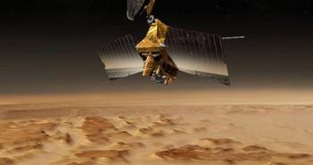 MRO na orbicie Marsa - wizualizacja / Credits: NASA