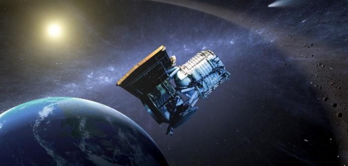 WISE na orbicie okołoziemskiej - wizja artystyczna / Credits: NASA-JPL