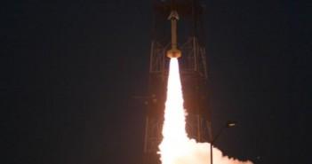 Zdjęcie przedstawiające start rakiety Terrier-Improved Malemute z ładunkiem RockSat-X / Credits: NASA/Chris Perry
