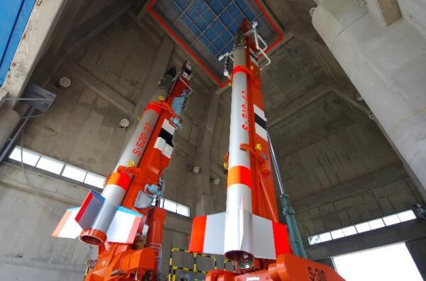 Zdjęcie japońskich rakiet suborbitalnych / Credits: twitpic.com, @koumeiShibata