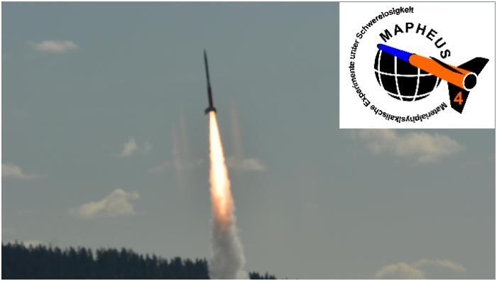 Zdjęcie rakiety VS-30 z ładunkiem MAPHEUS 4 / Credits: DLR