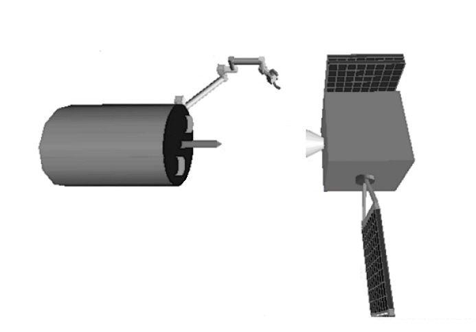 SY-7 zbliża się do celu - innego satelity. Czy tym satelitą okaże się SJ-7? / Credits - nieznane źródło, prawdopodbnie zbliżone do CNSA