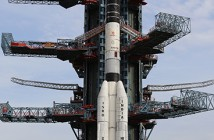 Rakieta GSLV na stanowisku startowym / Credits: ISRO