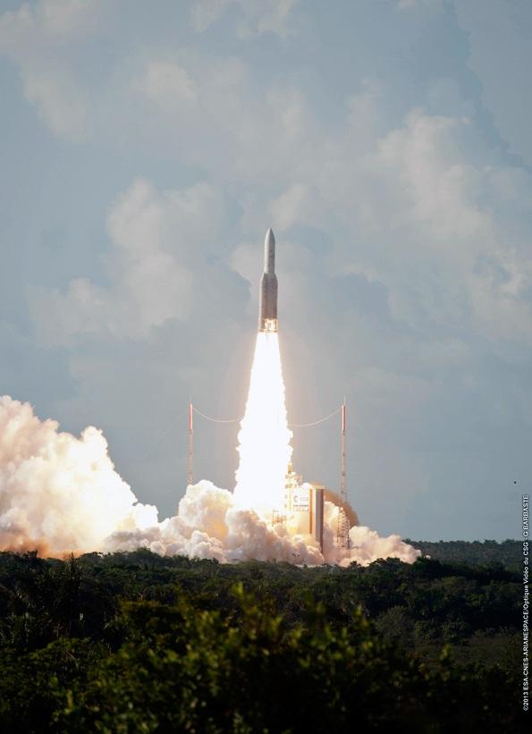 Start rakiety Ariane-5, 29 sierpnia 2013 / Credits: Arianespace