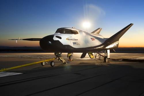 Dream Chaser w bazie Edwards Air Force Base w Kaliforni. Credits: NASA
