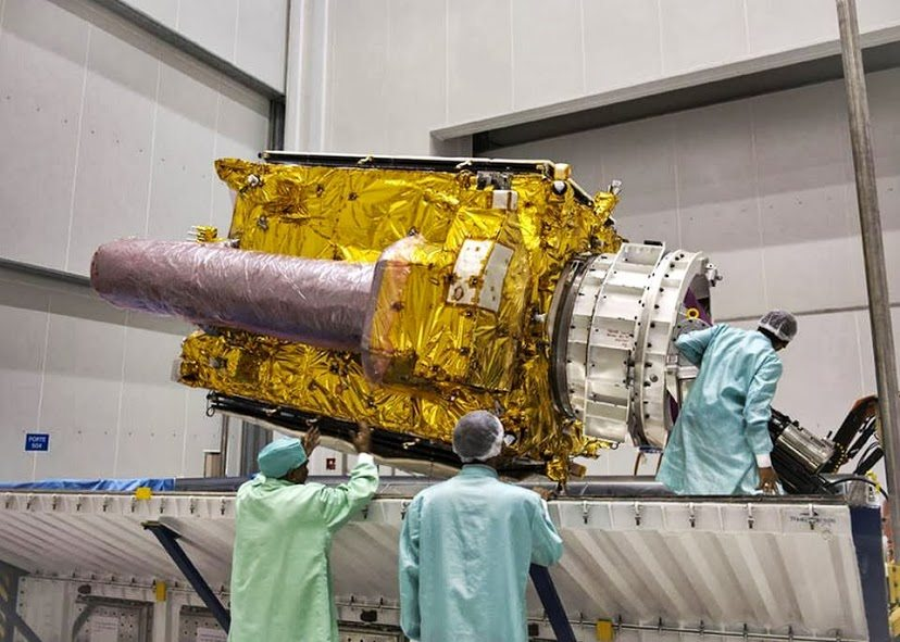 GSAT-7 w Gujańskim Centrum Kosmicznym / Credits: ISRO