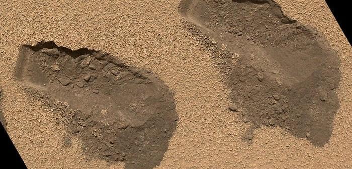 Próba Rocknest / Credits - NASA, JPL-Caltech