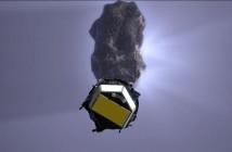 Zbliżenie Deep Impact to komety Tempel 1 - wizualizacja / Credits: NASA