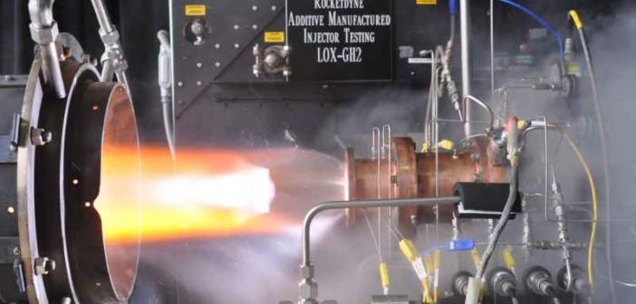 Test innego iniektora wydrukowanego przestrzennie, 11 lipca 2013, Glenn Research Center / Credits: NASA