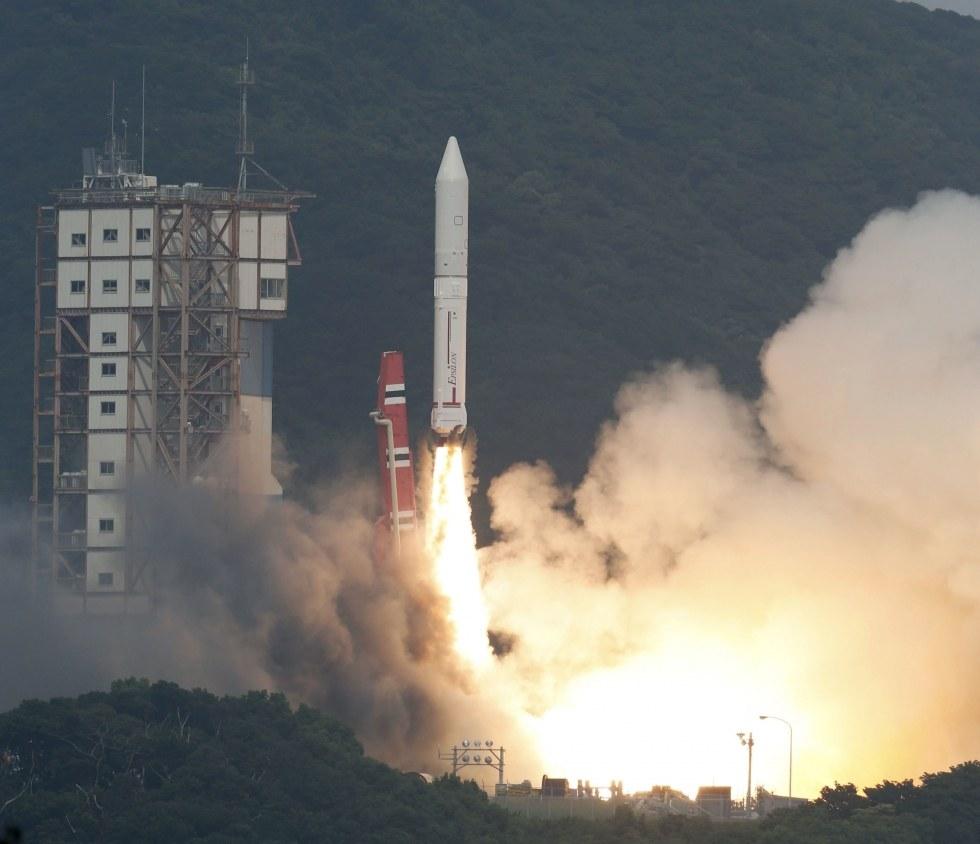 Start rakiety Epsilon, 14 września 2013 / Credits: JAXA
