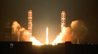 Start rakiety Proton / Credits: Roskosmos