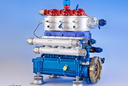 Tłokowa pompa ciekłego wodoru, firmy XCOR / Credits: XCOR