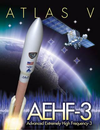 Plakat misji AEHF 3 / Credits - ULA, USAF