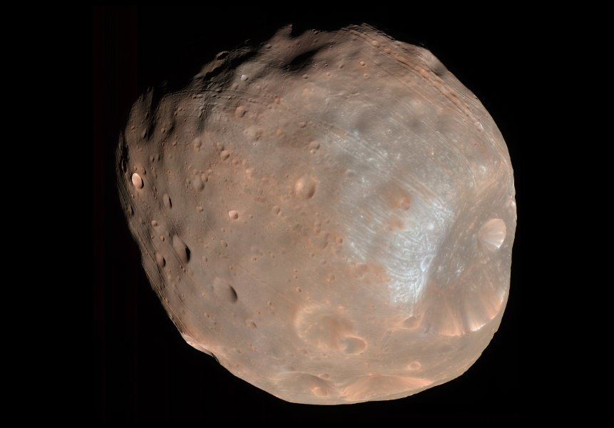 Fobos okiem sondy MRO / Credits - NASA, JPL, University of Arizona