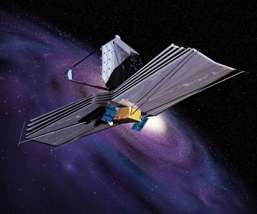 JWST na orbicie docelowej wokół punktu L2 układu Słońce-Ziemia - wizualizacja / Credits: NASA