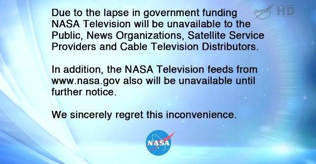 Tak oto 1 października 2013 roku wyglądała NASA TV / Credits - NASA TV