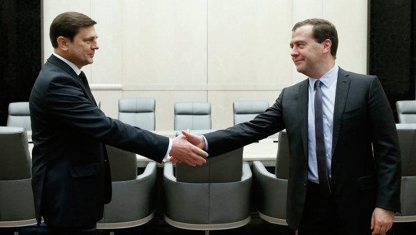 Oleg Ostapenko i Władimir Miedwiediew / Credits: RIA Nowosti