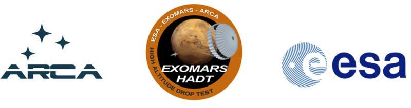 Loga inicjatywy ARCA, programu HADT oraz agencji ESA / Credits: ARCA