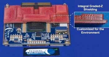 Struktura ochronna podzespołu elektronicznego / Credits: Tethers Unlimited, Inc.