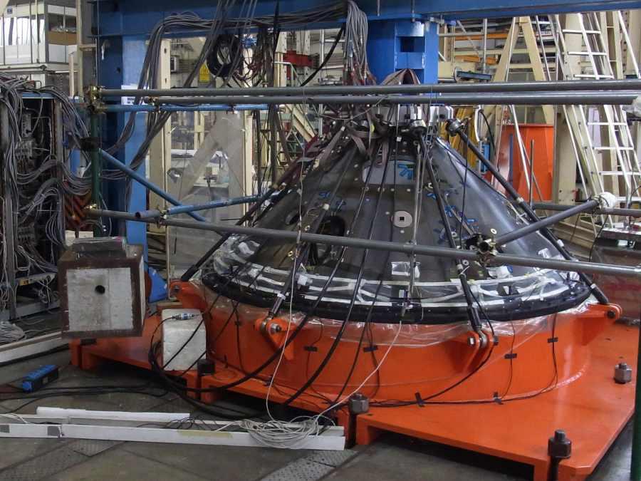 Model strukturalny lądownika EDM Schiaparelli / Credits: ESA (B. Bethge)
