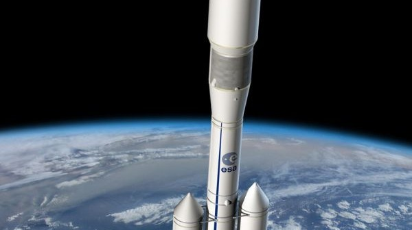 Wizja artystyczna Ariane 6 na paliwo stałe / Credits - ESA