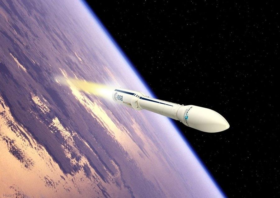 Start rakiety Vega - wizualizacja / Credits: ESA