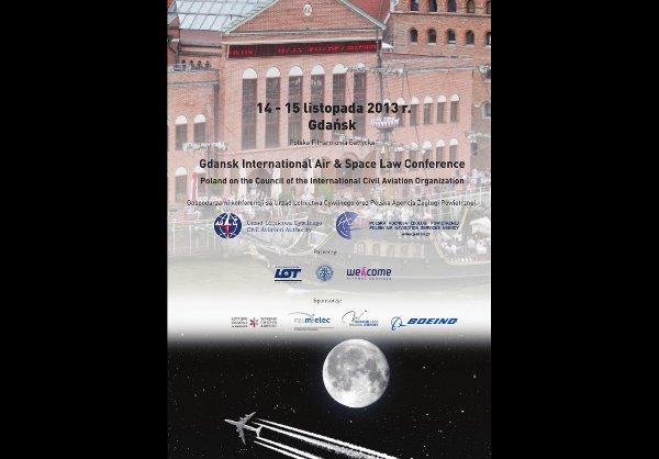 Plakat konferencji prawa lotniczego w Gdańsku / Credits - Urząd Lotnictwa Cywilnego
