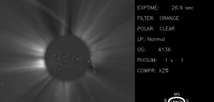 Obraz z 21:03 CET / Credits - NASA, ESA, SOHO, NRL, MPAe