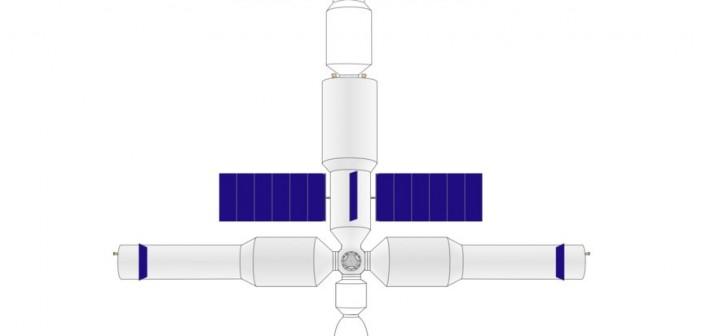 Potencjalny wygląd/zarys chińskiej stacji kosmicznej z kapsułą Shenzhou i pojazdem zaopatrzeniowym / Credits - Craigboy