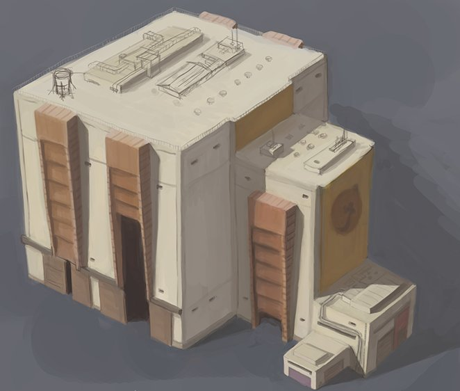 Vehicle Assembly Building - graphics concept for Race To Mars / Credits - Intermarum