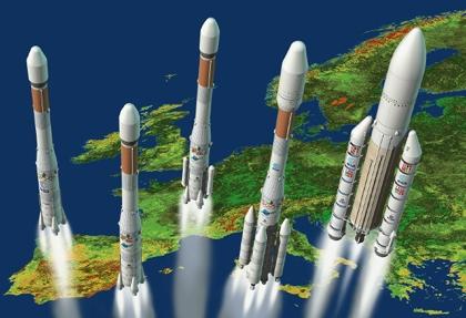 Rodzina rakiet Ariane / Credits: CNES