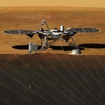 InSight na powierzchni Marsa - wizualizacja / Credit: NASA