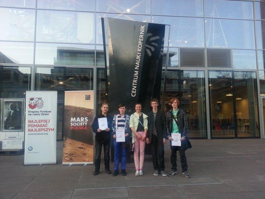 Laureaci I edycji konkursu ASTROBOT / Credits: Mars Society Polska, Krajowy Fundusz na rzecz Dzieci