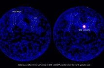 Rozbłysk GRB 130427A / Credits - NASA, Fermi