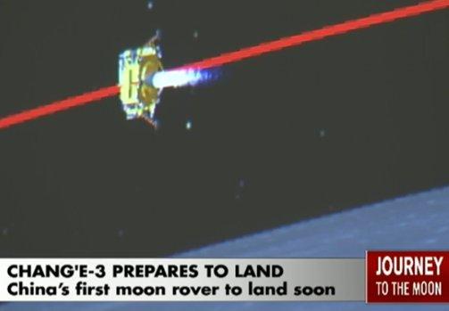 Chang'e 3 schodzi z orbity / Credits - animacja CCTV
