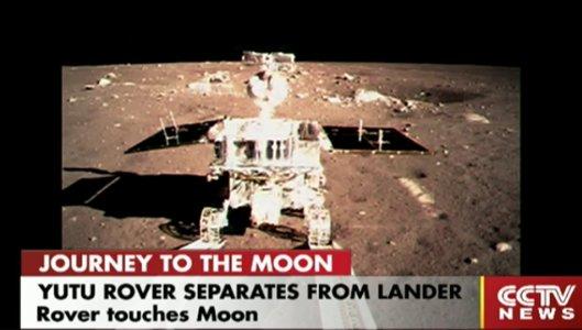 Yutu na powierzchni Księżyca / Credits - CCTV