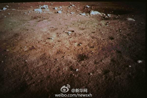 Zdjęcie wykonane na powierzchni Księżyca / Credits: Xinhua
