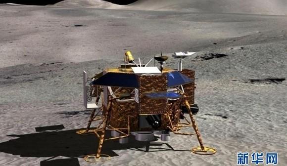 Change-3 na Księżycu - wizualizacja / Credits: CNSA