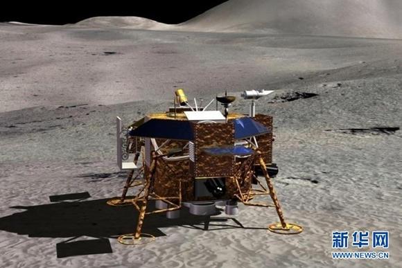 Change-3 na Księżycu - wizualizacja / Credits: News CN
