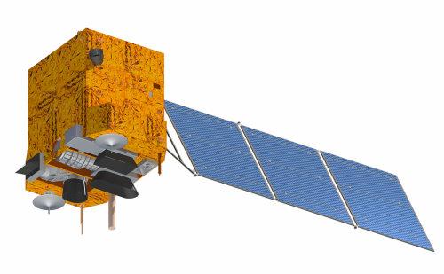 Wizualizacja satelity CBERS-3 (CBERS/INPE)