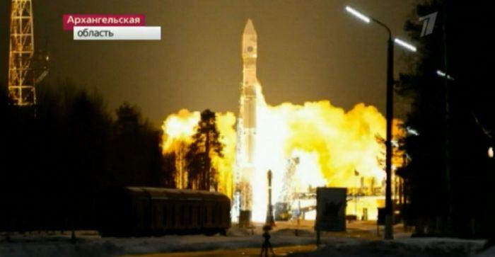 Start rosyjskiej rakiety Sojuz-2.1w / Credits: rosyjskie media