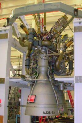 Silnik pierwszego stopnia rakiety Antares - AJ26-62 / Credits: Orbital Sciences Corporation