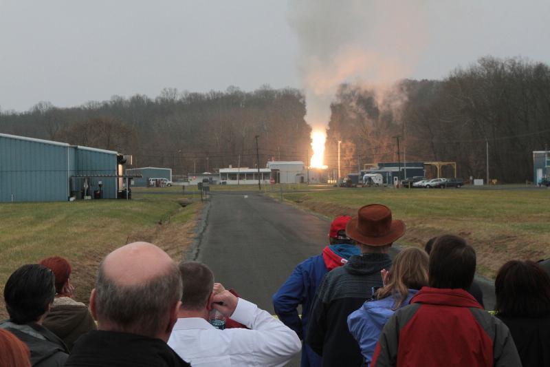Test silnika ATK dla sondy Solar Probe Plus / Credits: ATK