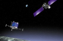 Rosetta i lądujący Philae - wizja artystyczna / Credit: ESA