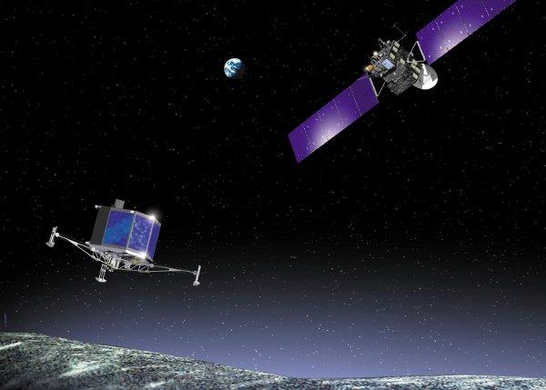 Rosetta i lądownik Philae / Credits: ESA