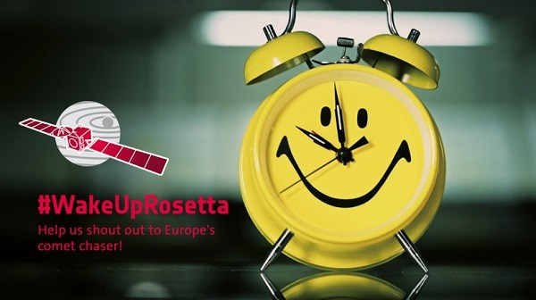 Logo Wake Up Rosetta / Credits: ESA